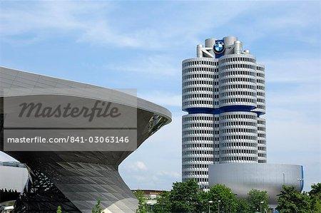 BMW Welt et siège, Munich (München), Bavière, Allemagne, Europe