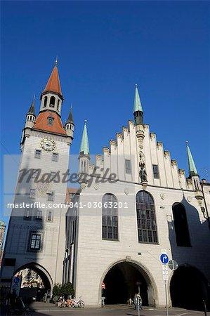 Altes Rathaus (ancien hôtel de ville), Marienplatz, Munich (München), Bavière (Bayern), Allemagne, Europe