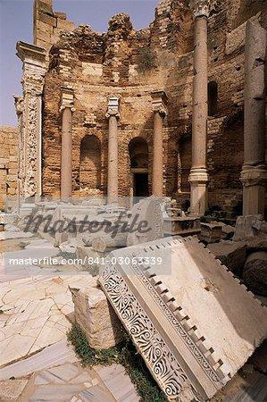 Justice Basilica, Leptis Magna, UNESCO World Heritage Site, Tripolitania, Libya, North Africa, Africa