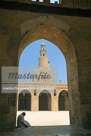 Mosquée Ahmed Ibn Tulun, Site du patrimoine mondial de l'UNESCO, le Caire, Egypte, Afrique du Nord, Afrique