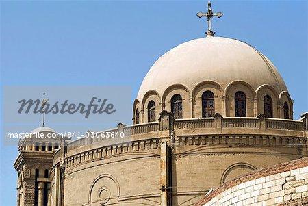 Exterior of St. Mari Gerges Church, Coptic Cairo, Cairo, Egypt, North Africa, Africa