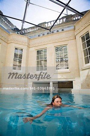 Heiße Bad, Thermae Bath Spa, Bad, Avon, England, Vereinigtes Königreich, Europa