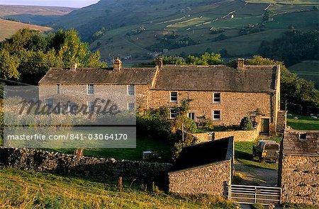 Ferme près de Gunnister, Swaledale, Parc National de Yorkshire Dales, Yorkshire, Angleterre, Royaume-Uni, Europe