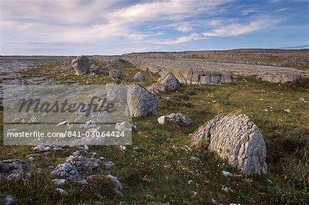 Causse, paysage karstique, région de Burren, comté de Clare, Munster, Irlande, Europe