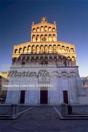 Chiesa di San Michele in Foro, Romano-Pisan style église, Lucca, Toscane, Italie, Europe