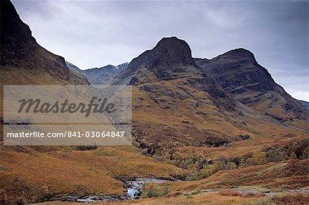Glencoe Pass, impressive landmark and site of the Massacre of Glencoe, Highland region, Scotland, United Kingdom, Europe