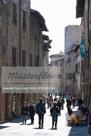 San Gimignano, Toscane, Italie, Europe