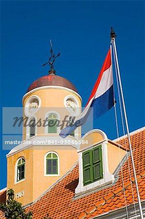 Église de fort dans le Fort Amsterdam, District de Punda, Willemstad, Curaçao, Antilles néerlandaises, Antilles, Caraïbes, Amérique centrale