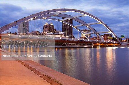 Frederick Douglass et Susan B. Anthony Memorial Bridge, Rochester, New York État, États-Unis d'Amérique, l'Amérique du Nord