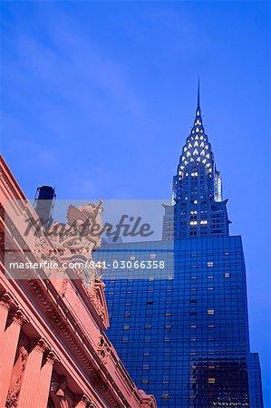 Grand Central Station et l'Empire State Building, Manhattan Midtown, New York City, New York, États-Unis d'Amérique, l'Amérique du Nord