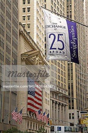 Abaisser de la bourse à Wall Street, Manhattan, New York City, New York, États-Unis d'Amérique, Amérique du Nord