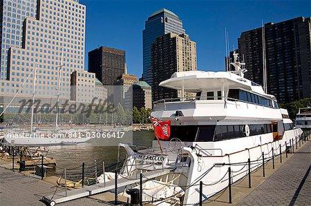 North Cove Yacht Harbor, World Financial Center, New York City, New York, États-Unis d'Amérique, l'Amérique du Nord