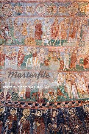 Frescoes in Goreme Open Air Museum's rock-cut Byzantine Tokali Kilise (Buckle Church), UNESCO World Heritage Site, Goreme, Cappadocia, Anatolia, Turkey, Asia Minor, Eurasia