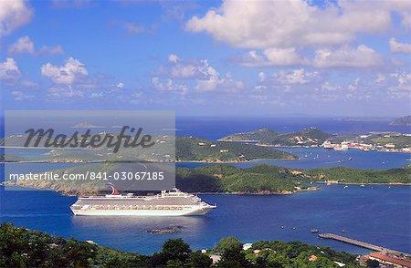 Charlotte Amalie (Tramway), capitale des îles Vierges américaines, Antilles, Caraïbes, Amérique centrale