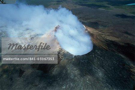 Le cône de cendres de pu ' u o, la grille d'aération actif sur le flanc sud du Kilauea volcan, Big Island, Hawaii, Hawaii, États-Unis d'Amérique, Amérique du Nord