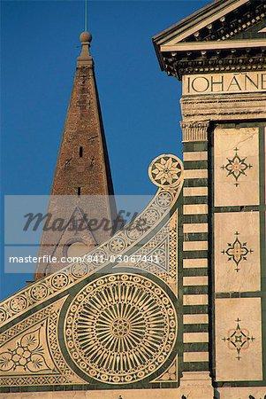 Détail de Santa Maria Novella église, Florence, Toscane, Italie, Europe