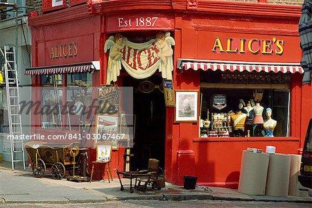 Antiques shop, Portobello Road Market, London, England, United Kingdom, Europe