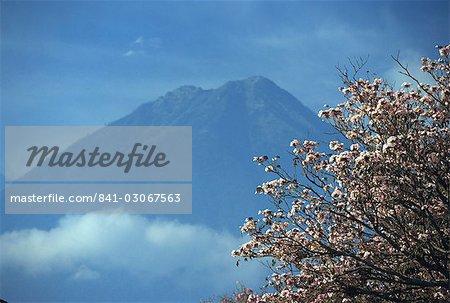 Le 3760m Volcan Agua, au-dessus de l'Amérique centrale Antigua, Guatemala,