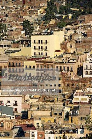 Immeubles de Zacatecas, une ville minière et capitale de l'état de Zacatecas, au Mexique, en Amérique du Nord