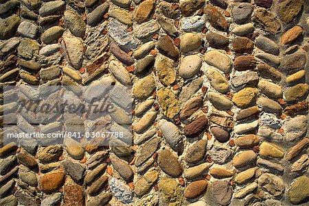 Chevrons mur, Yorkshire, Angleterre, Royaume-Uni, Europe