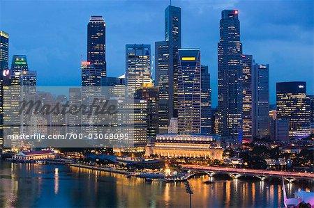 Skyline, Marina Bay, Singapour