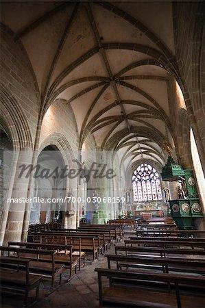 Saint Ronan église, Locronan, Finistere, Bretagne, France