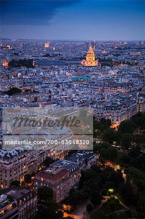 Vue d'ensemble de Paris, France