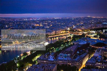 River Seine at Night, Paris, France
