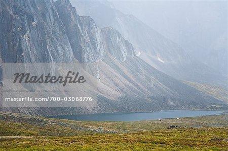 Talus Lake and Tombstone Range, Ogilvie Mountains, Tombstone Territorial Park, Yukon, Canada