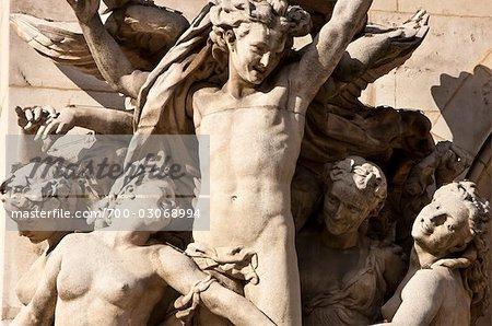 Statues at Opera De Paris, Paris, France