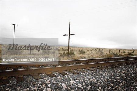 Train Track, Marfa, Presidio County, Texas, Etats-Unis