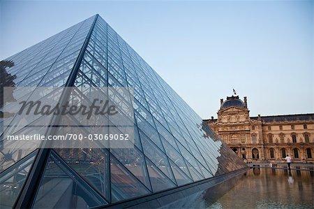 The Louvre Pyramid, Paris, France