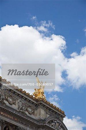 Sculpture on the Roof of Opera De Paris, Paris, France
