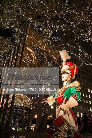 Toy Soldier at Rockefeller Center, Manhattan, New York City, New York, USA