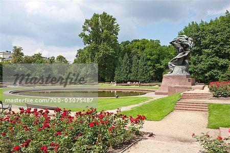Frederic Chopin Denkmal Lazienki Park Warschau Polen