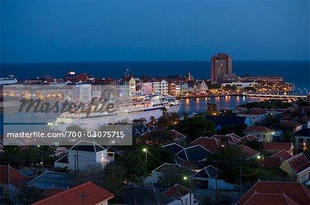 Croisière dans le port, Willemstad, Curaçao, Antilles néerlandaises