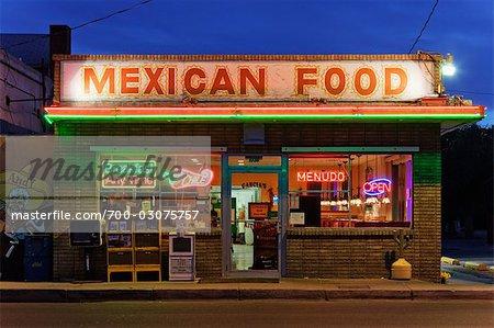 Restaurant mexicain, Albuquerque, Nouveau-Mexique, États-Unis