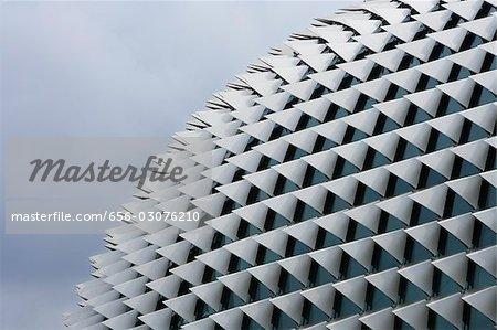 Nahaufnahme der Esplanade, Singapur.