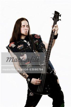 Heavy metal bass player