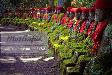 Buddha Statuen, Nikko-Nationalpark Region Kanto, Japan
