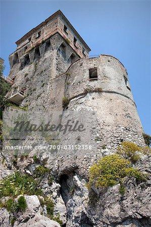 Tour sarrasine, Cetara, Province de Salerno, Campanie, Italie