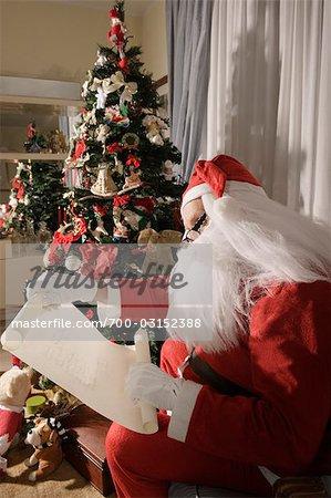 Liste de vérification de Santa Claus