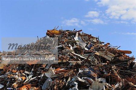 Scrap métal Pile, Bavière, Allemagne