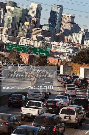 Cars on Freeway, San Francisco, California, USA