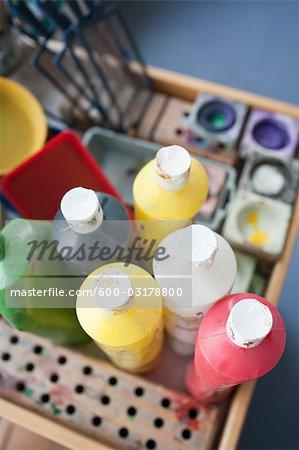 Close-up of Paints