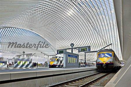 Liege-Guillemins Train Station, Liège, Wallonie, Belgique