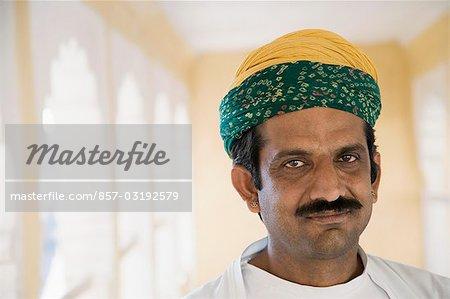 Portrait of a man, Meherangarh Fort, Jodhpur, Rajasthan, India
