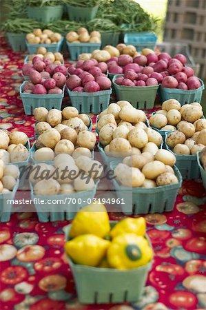Organic Potatoes at Farmer's Market