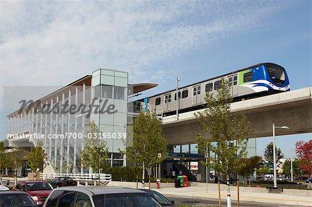 Canadaline Skytrain, Lansdowne Station, Richmond, British Columbia, Kanada