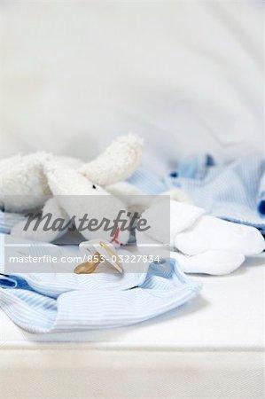 Articles pour bébés, gros plan
